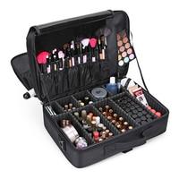 Professional Makeup Bag Women Cosmetic Bags Travel Cosmetic Organizer Box Large Portable Zipper Cosmetic Bag Beauty Designer Bag