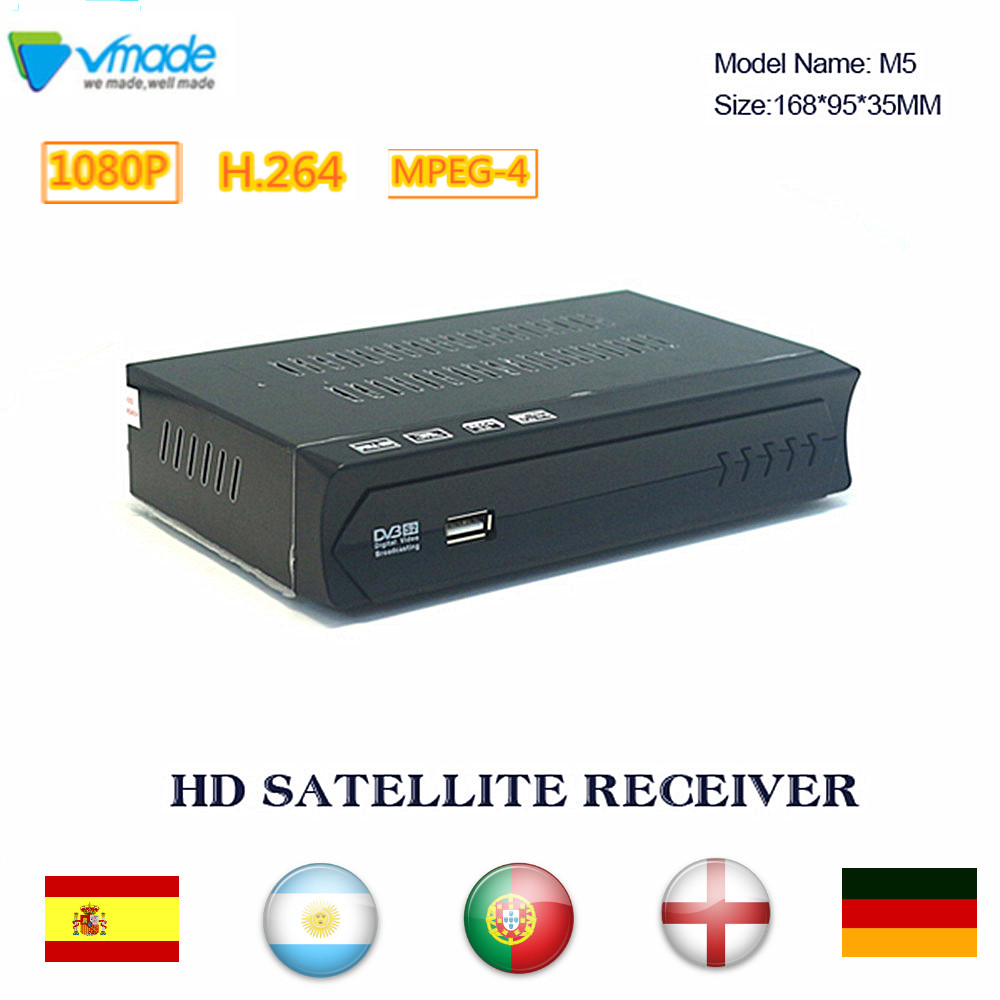 Vmade DVB S2 Satellite Receiver Fully HD 1080P support IKS Cccam Biss Satellite TV Box DVB S2 H 264 Tuner set top box for Brazil in Satellite TV Receiver from Consumer Electronics