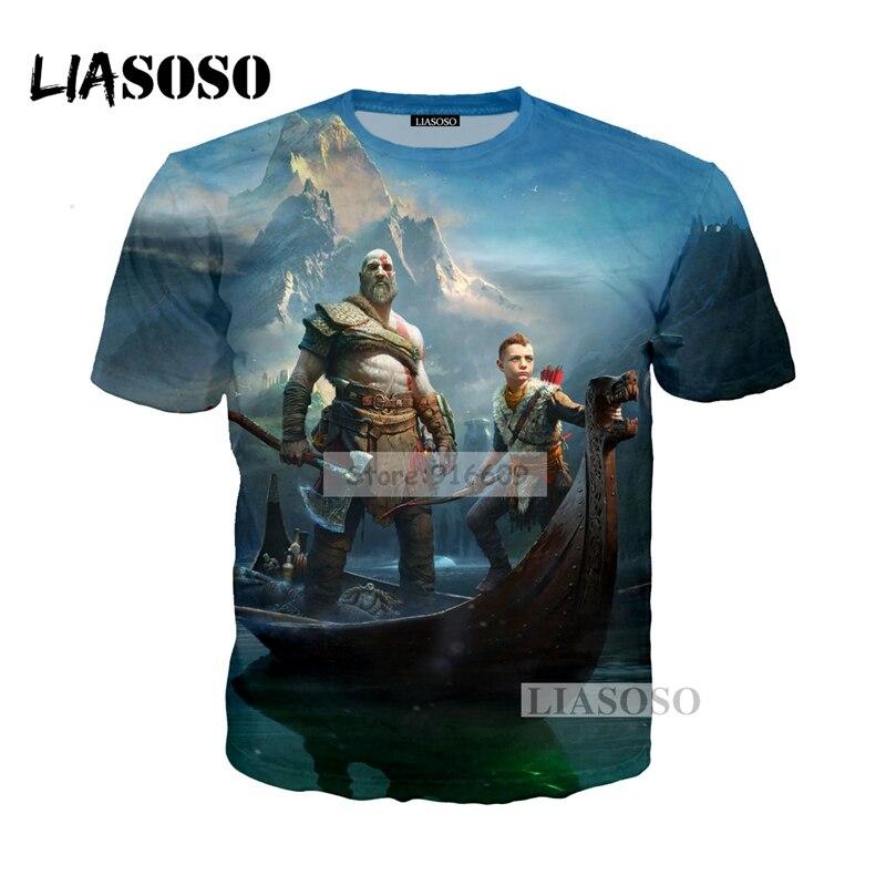 0afcbfa85bde4d LIASOSO NEW Cosmos Kratos God Of War Cool 3D Print T shirt Hoodie Sweatshirt  Unisex Good Quality Blood RED Lines Face Tops G656
