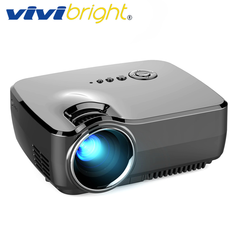 VIVIBRIGHT LED Mini Projector GP70. 1200 Lumens. Support Full HD, 1080P,LCD Beamer,USB,HDMI,VGA gp70 mini lcd 1200lm led theater home projector hdmi 1080p fhd