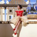 Red Lace Homecoming Dresses 2016 Off The Shoulder Short Party Gown Vestidos De Coctel Junior Abiye Gece Elbisesi H13