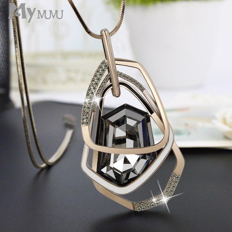 Mymumu Sweater Necklace Long Female Fashion Best Match Act The Role Of Temperament Elegant Pendant Pendant