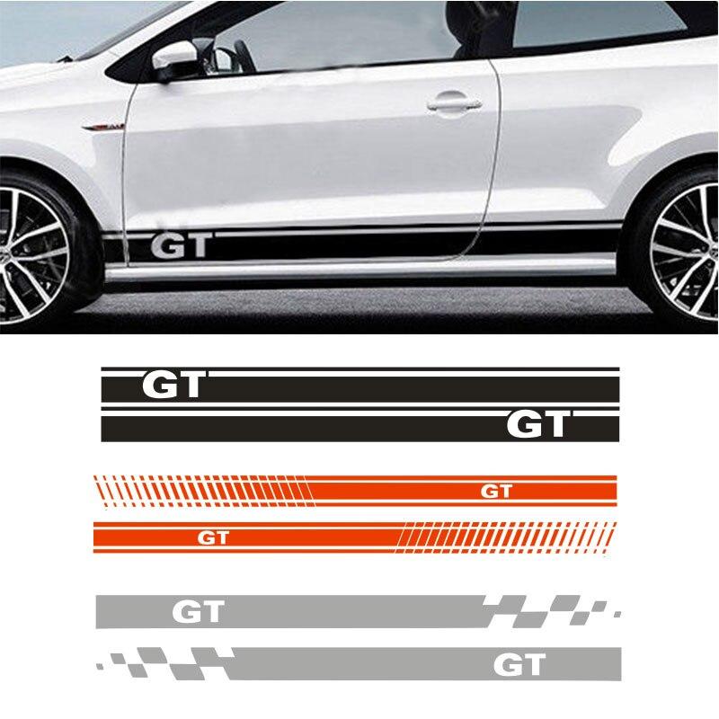 VW POLO IÇIN GT YAN YONGXUN RACING STRIPES GRAFIK ÇıKARTMASı Araba Etiketler da-82