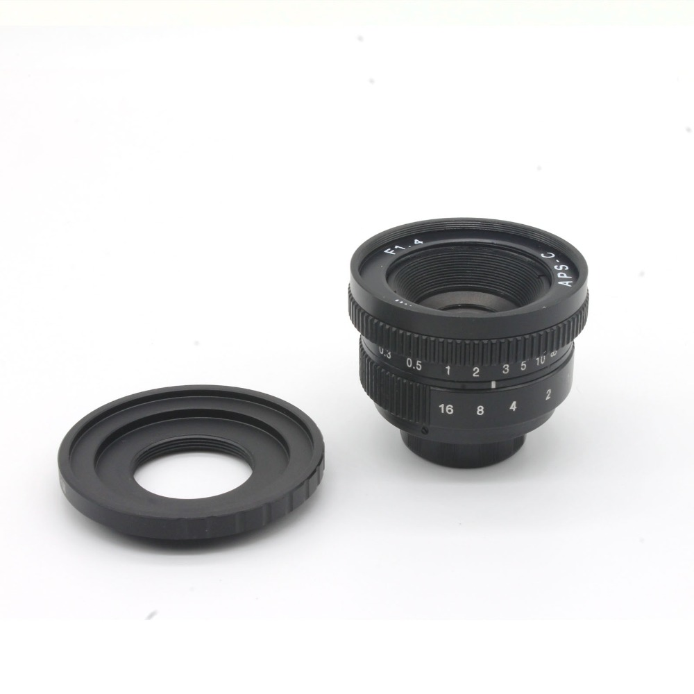 ФОТО Camera Mirroless 25mm F1.4 C-Mount Camera Lenses with C- EOS M adapter for Canon for EOS M / M2 / M3 free shipping