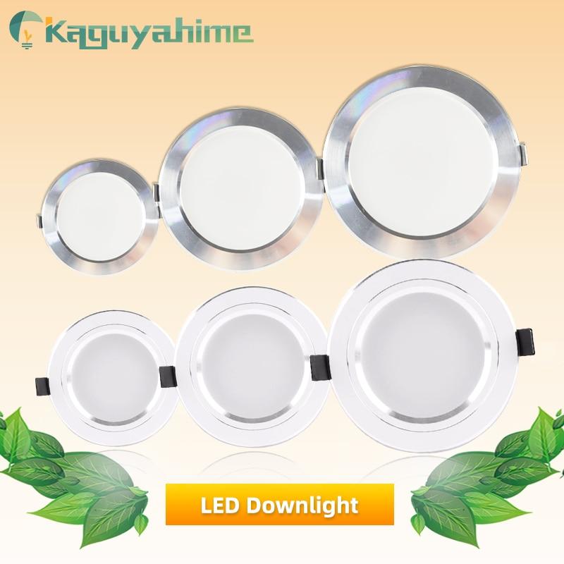 Kaguyahime LED Spotlight 220V 110V Aluminum Downlight 18W 15W 9W 5W 3W Ultra Thin Round Recessed LED Spot Light For Living Room