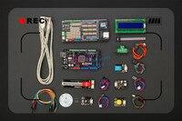 DFRobot DFRduino Mega Kit, incluem 2560 Mega V2.3 Mega Sensor Escudo V3.0 7 sensores levou disco de luz Compatível com arduino Mega