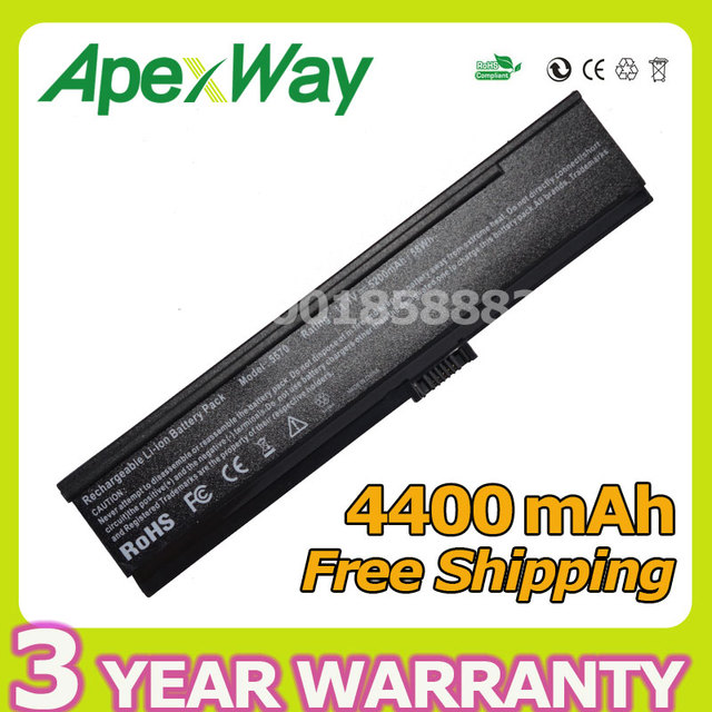 Apexway 6 celdas de batería portátil para acer aspire 3050 3680 5050 5570 5580 2400 2480 4014 2400 2403 2404 2480