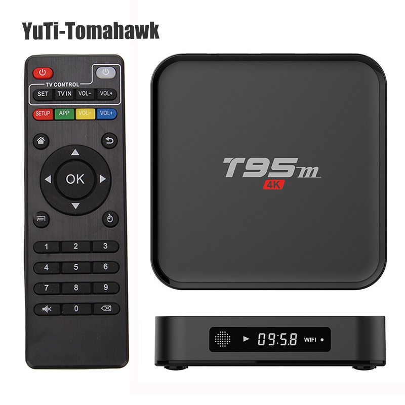 лучшая цена New Android TV Box T95M 1GB/2GB 8GB 2.4G WiFi Amlogic S905X KODI 16.0 Android 6.0 Quad Core H.265 4K media player MINI PC tv box