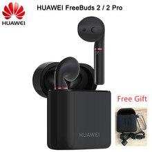 2018 最新のhuawei社freebuds 2 プロtws bluetooth 5.0 ワイヤレスイヤホンとマイク音楽タッチ防水ヘッドセット