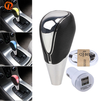 POSSBAY Touch Activated LED Car Gear Shift Knob Gear Stick Shift Lever Knod for Golf 4 Audi A4 B5 BMW E36 MT Gear Head