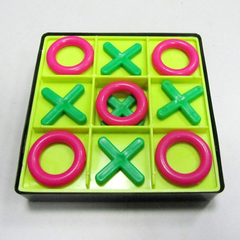 1pcs Board Game OX Chess Parent-Child Interaction Leisure Funny Developing Intelligent Montessori Educational Toys For Children