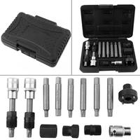 Set Tool 13 Pcs Alternator Freewheel Pulley Removal Socket Bit Set Garage Service Tool Kit Hand Tools