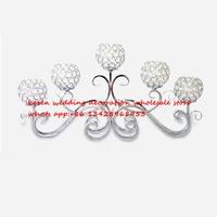 Серебряный 5 оружия свадьбы хрустальные подсвечник свадьбы центральным украшение, украшение дома