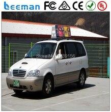 Leeman Alibaba лучшие продажи программируемый светодиодный видео для шины или автомобиль двухместный стороны полноцветная перечисляя такси рекламно знак