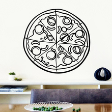 Classic Pizza Pvc Wall Decals Home Decor Decor Living Room Bedroom Removable Wall Stickers Waterproof Wallpaper free shipping laundry waterproof wall stickers home decor living room children room removable decor wall decals