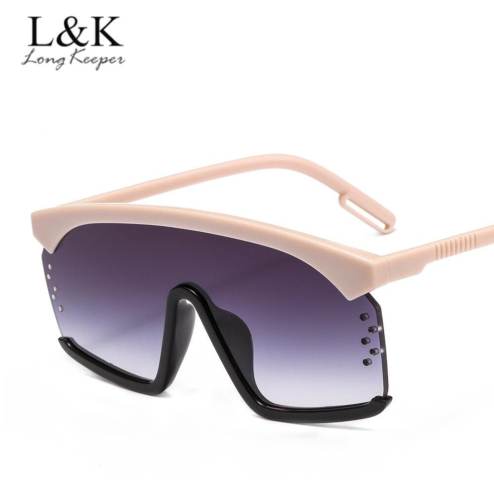 New Semi Rimless Sunglasses Men Women Retro Half Frame Sun Glasses  Sol Flat Top