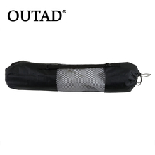 OUTAD 1pc High Quality popular Portable Yoga Mat Bag Polyester Nylon Mesh black backpack for health