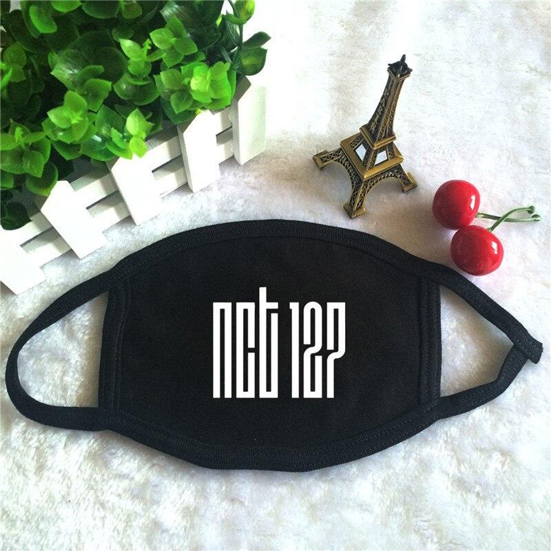 Masken Damen-accessoires Kpop Nct 127 Nct127 Album Logo Nct #127 Drucken K-pop Mode Gesicht Masken Unisex Baumwolle Schwarz Mund Maske Starker Widerstand Gegen Hitze Und Starkes Tragen