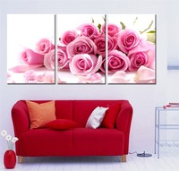 Frameless Large Size Pink Rose Drawing Painting By Numbers DIY Oil Painting By Numbers Coloring By