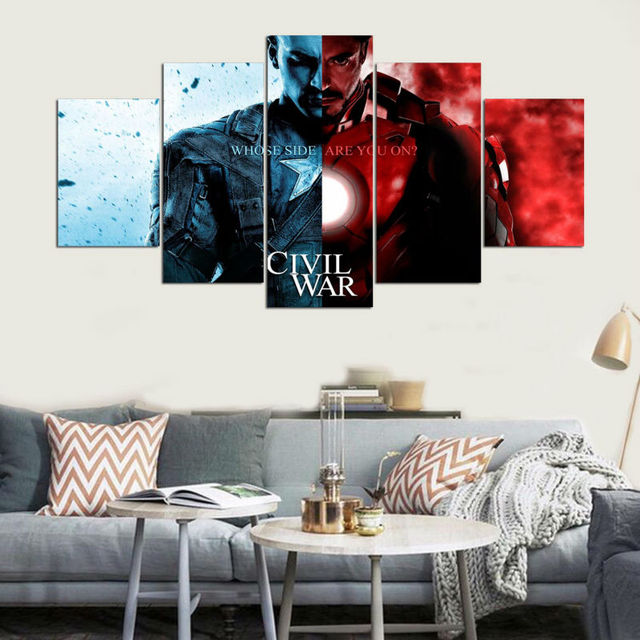 Panel Canvas Art Modern Movie Poster Iron Man Wall Art Pictures ...