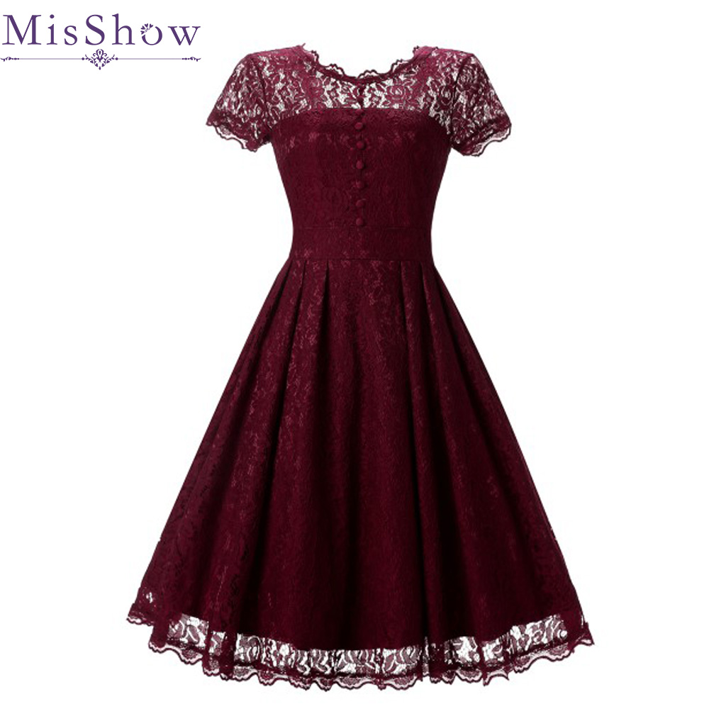 Stock Wine Red Sexy   Evening     Dresses   Elegant Short Cheap Simple Lace Formal   Dress   Navy Blue plus size women short   evening     dress