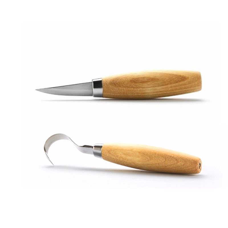 2PCS Spoon Carving Knife Woodcarving Cutter Woodwork Sculptural DIY Woodcut Tool wood carving knife cuchillo de talla de cuchara
