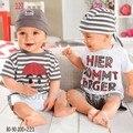 Милые летние новорожденный мальчик 3 шт. комплект майка шорты шляпа дети костюм одежда Infantil наряды Bebe одежду младенческой верхняя одежда