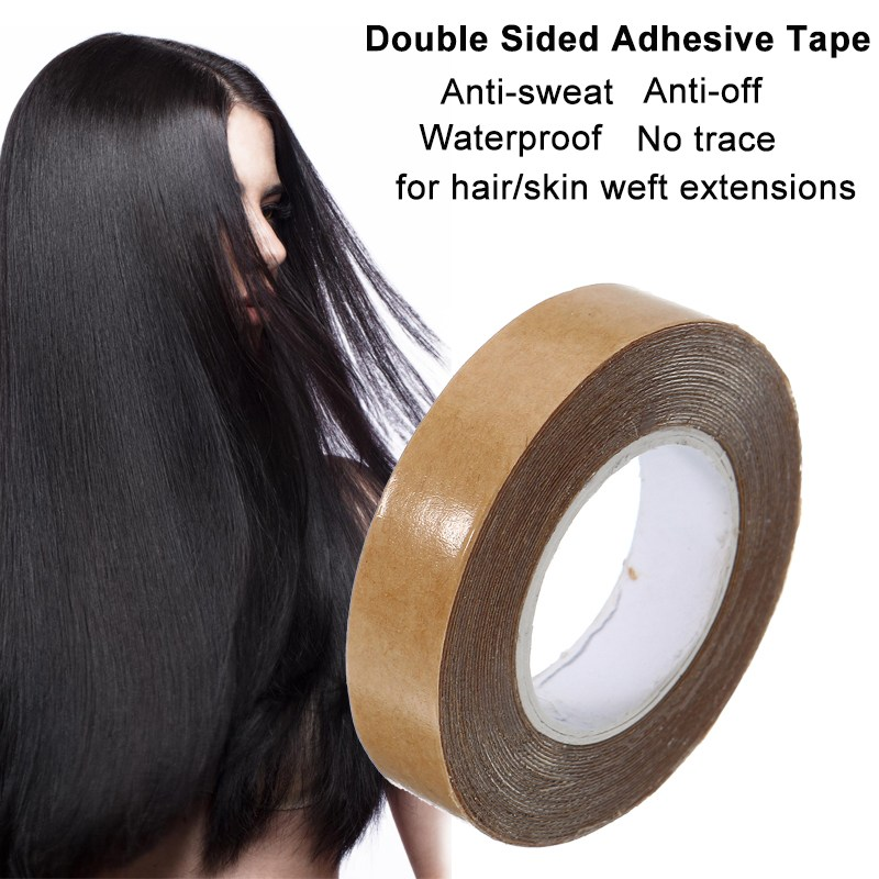 1PCS 1cm3 Yard Double Sided Adhesive Tape Waterproof Traceless Super Glue Tapes For Skin Weft