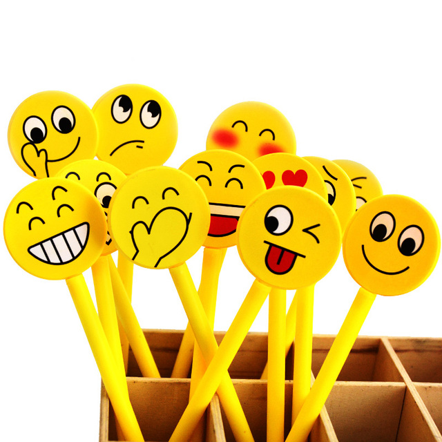 12PCS Back To School Gel Pen Emoji Party Favor Kids Happy Birthday