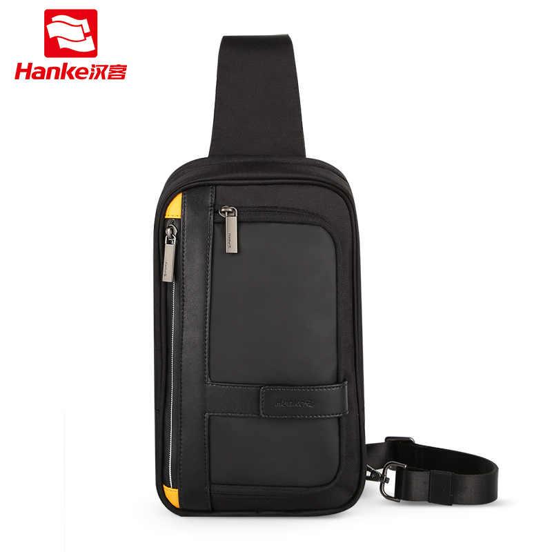 Hanke nowe męskie torby crossbody Messenger School męskie procy torba na klatkę piersiową do pracy wodoodporna torba podróżna na ramię w talii