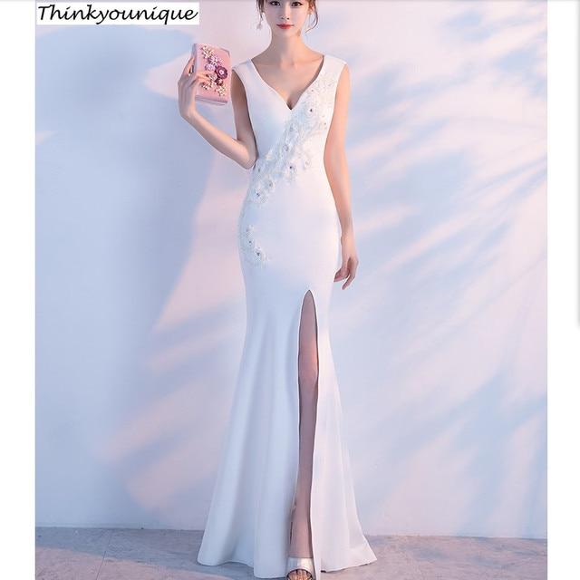 5859030a05 Vino rojo personalizado V cuello partido vestido formal vestidos de noche  largos vestido de festa Longo