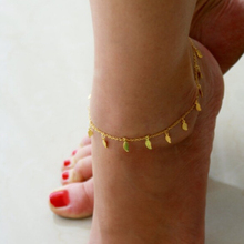 SBY0749 New Arrival Hot Sale Fashion Accessoris Hollow Chain leaf Gold Anklets Foot Jewelry