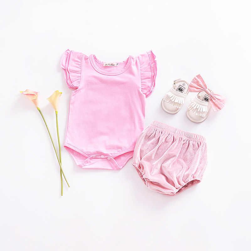 2018 pantalones cortos de bebé recién nacido bebé niño niña pantalones cortos de terciopelo PP bombachos sólidos pantalones de niño fondos suaves bebé niño chica