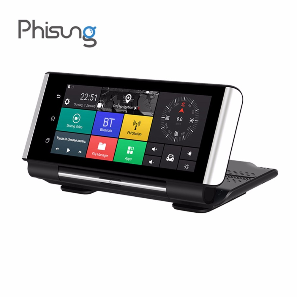 hight resolution of phisung k6 dual lens wifi car dvr android 5 1 4g auto dvr camera gps navigation bluetooth