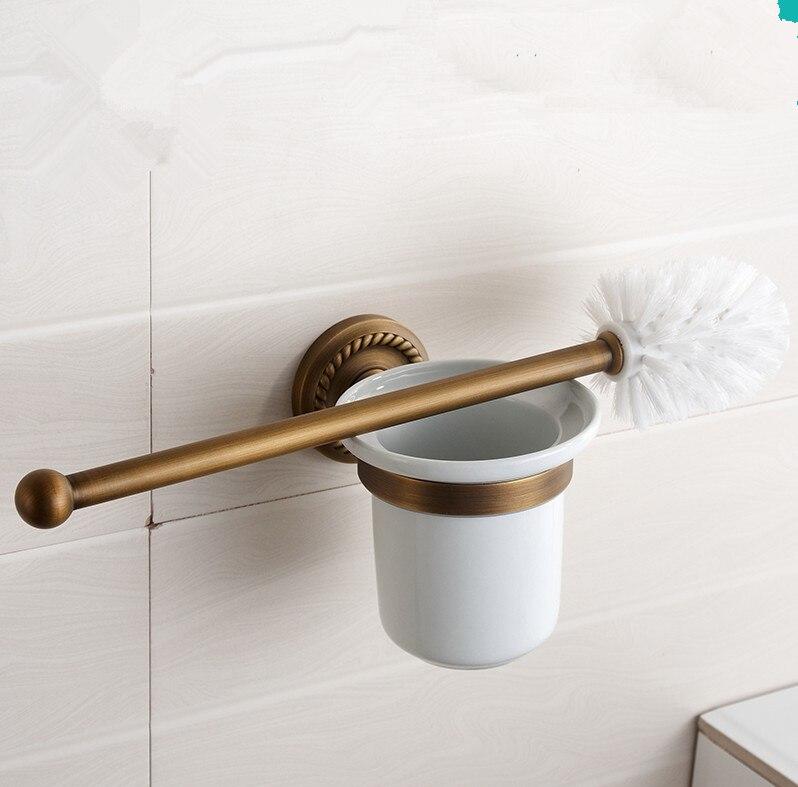 US $45.34 32% OFF|Klassische Bad accessoires, antike bronze finish Wc  bürstenhalter Mit Tasse und Kreative Vintage Design, wc reinigungsbürste-in  ...