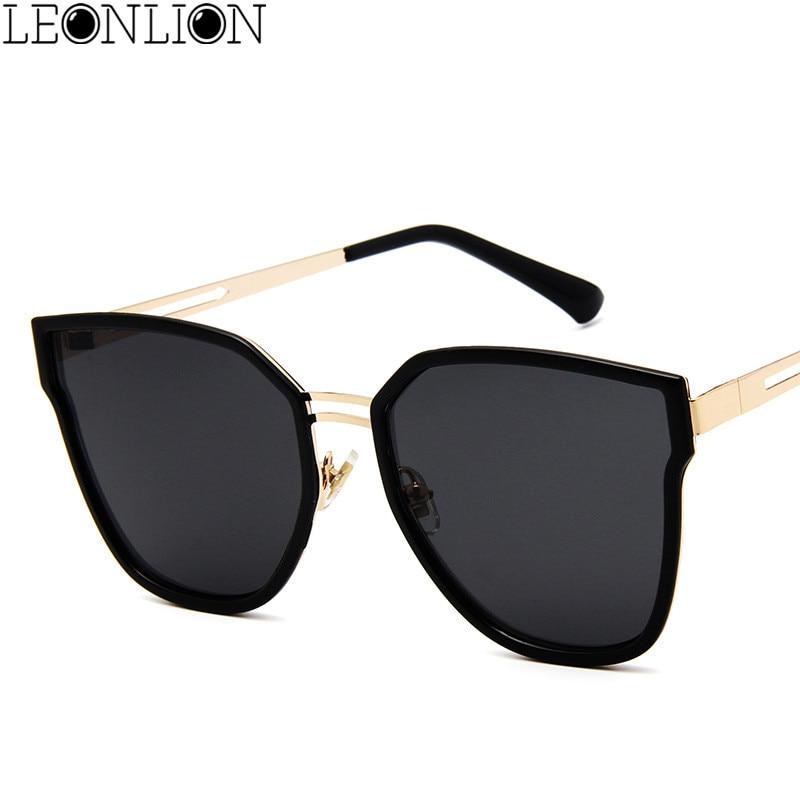 60fe8b592f LeonLion 2018 Alloy Large Frame Butterfly Sunglasses Women Men Designer  Travel Polygonal Sun Glasses For