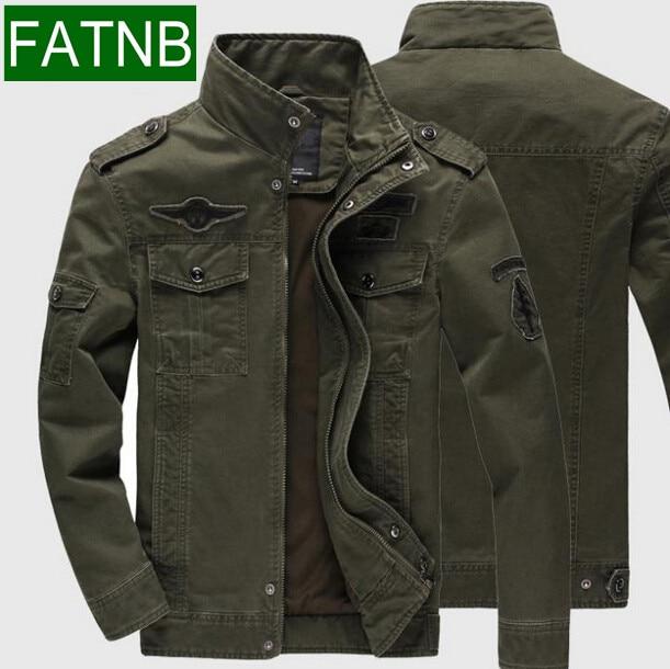 Осень и весна мужская куртка Большие размеры 6xl Жан в стиле милитари солдат ВВС один мужской одежды для Aeronautica Militare