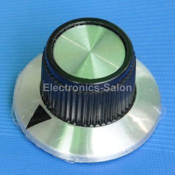 "( 25 pcs/lot ) Pot Knobs, OD-0.95"" H-0.56"" Shaft 1/4"", KNOB-D01, for HAM Radio / Audio"