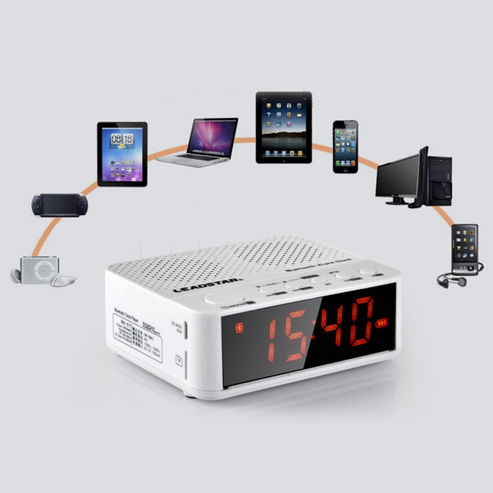 Multifunctional Wireless Stereo Bluetooth Speaker Support TF Card Play Music Loudspeakers 3.5 inch LCD Alarm Clock For Phone PC