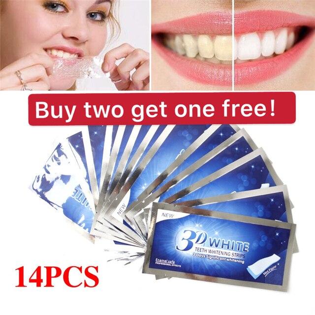 Kit de blanqueamiento Dental de Gel blanco 3D de 28 piezas/14 pares para blanquear dientes falsos, sonrisa perfecta dentista en seks