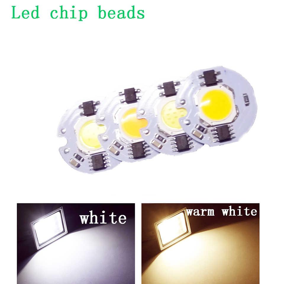 COB LED Lamp Chip 220V No Need Driver Smart IC Ampoule LED Bulb Flood Light For Spotlight 3W 5W 7W 10W 12W Diy Lighting Light