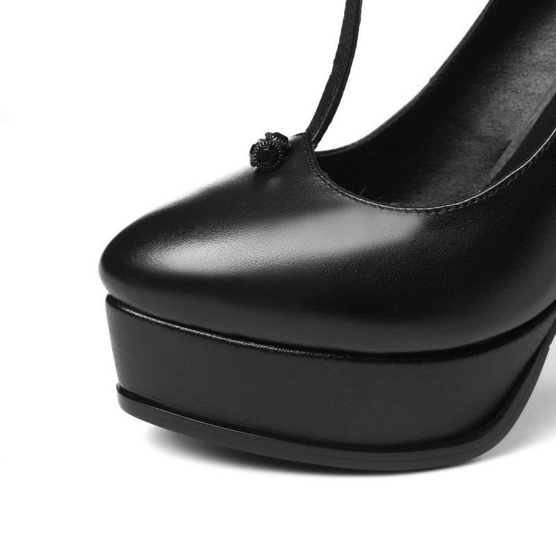 Vache Simple Réel Couleurs Noir 2 blanc Cuir Salu Pompes En Chaussures Talons Partie Bureau Haute Mode De Peau Mouton Mariage 57SnXq