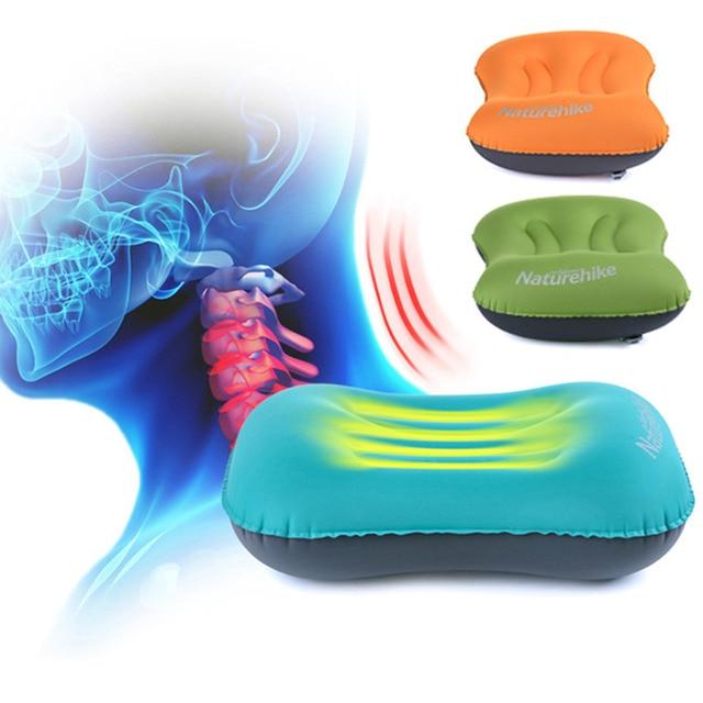 NatureHike Mini Travel Pillow Ultralight Portable Air Inflatable Pillow Outdoor CampingTravel Soft Pillow Free Shipping
