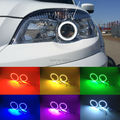Para Chevrolet Niva 2009-2013 Excelente kit Angel Eyes Multi-Cor Ultrabright 7 Cores RGB LEVOU Angel Eyes Anéis de Halo