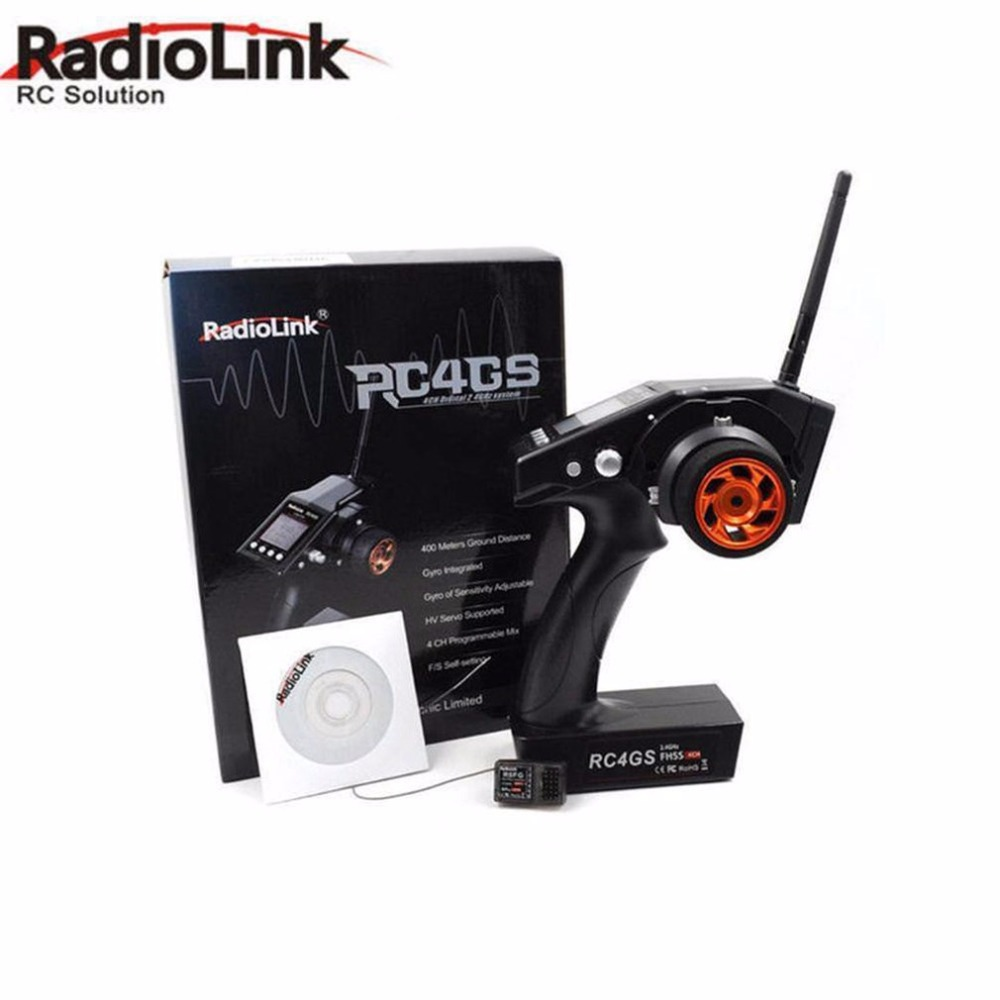 1pcs Radiolink RC4G 2.4G 4CH Car Controller Transmitter/Radio System+R6FG Receiver for RC Cars Boats