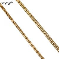 10m/lot Stainless Steel Jewelry Making Chain Women Men Necklace Bracelet Making Chains Gold Color Handmade materials