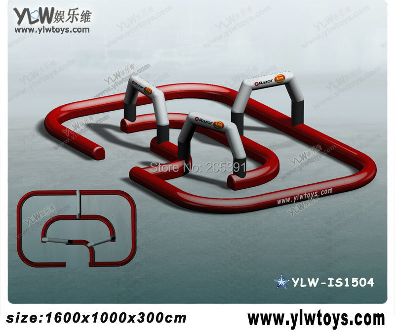 inflatable karting track,inflatable air tumble track,air racing track,inflate sport games