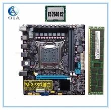 new desktop motherboard X79 with E5 2640 C2+8G set RAM M.2 SSD port ddr3 support Ecc ram    LGA 2011  mainboard  7.1 audio port