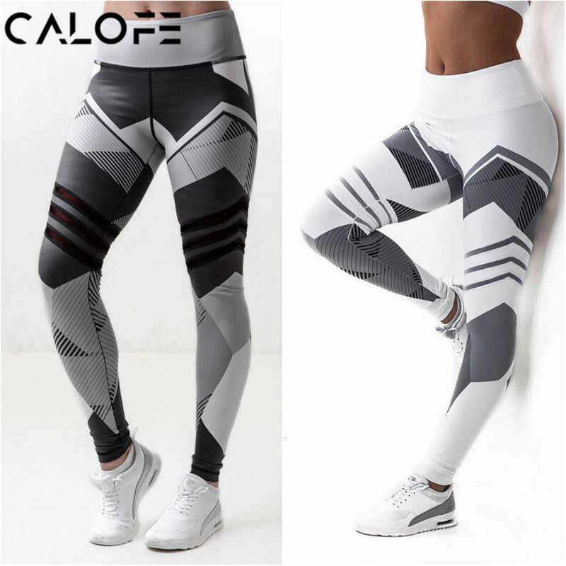 bf32b363f5f0ee Hot Striped Running Pants Women Push Up Sport Leggings Fitness Athletic  Tights Seamless Gym Trousers Training