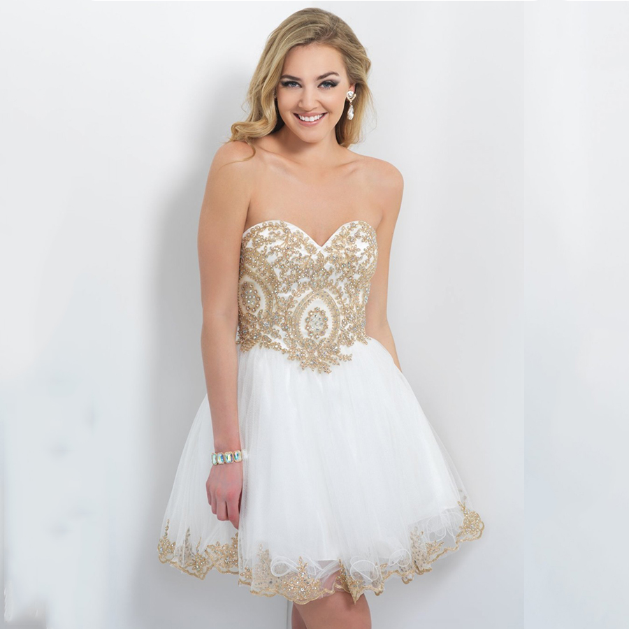 Vestidos De Gala Blanco Con Dorado Vestidos Elegantes Para